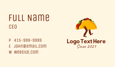 Mexican Taco Delivery  Business Card