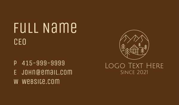 province - Mountain Log Cabin  Business card horizontal design