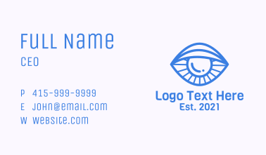 Clam Eye Line Art Business Card