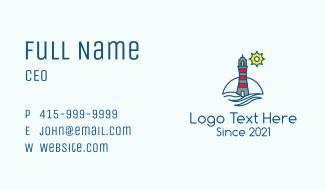 Lighthouse Coastal Tower Business Card