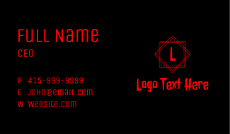 Red Witchcraft Letter Business Card