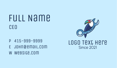 Toucan Maintenance Wrench Business Card