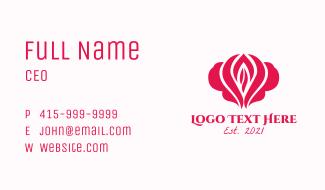 Feminine Flower  Business Card