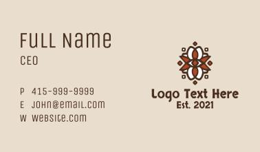 Ancient Aztec Shield  Business Card
