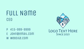 Santorini Greek Island Business Card