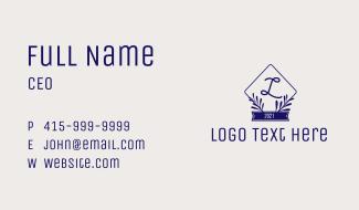 Leaves Emblem Business Card