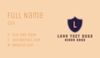 Varsity Shield Text Business Card