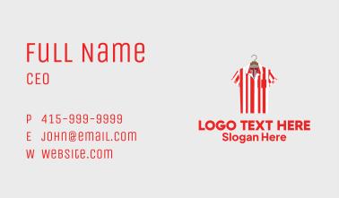 Striped Polo Shirt Business Card