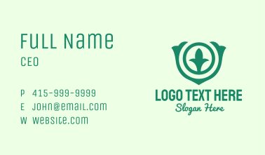 Modern Organic Badge Business Card