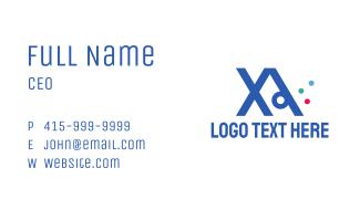 Modern XA Monogram Business Card