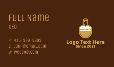 Draft Beer Laboratory  Business Card