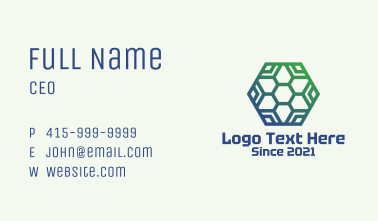 Honeycomb Eco Friendly Business Card