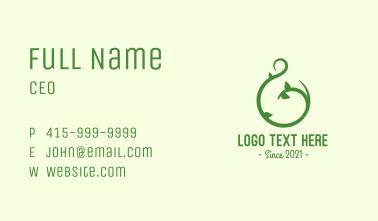Green Vine Letter G Business Card