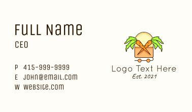 Carrot Farm Line Art Business Card