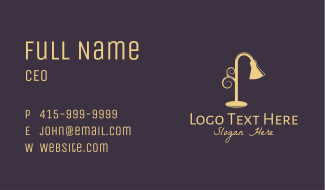 Yellow Lampshade  Business Card