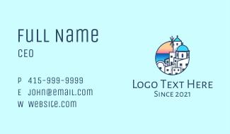 Santorini Greek Island Greece Business Card