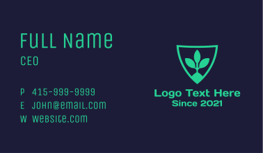 Healthy Plant Shield Business Card
