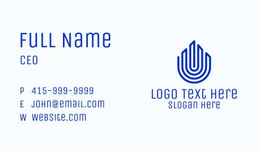 Blue Tower Fingerprint Business Card