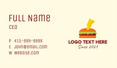 Hamburger Thunder Bolt  Business Card