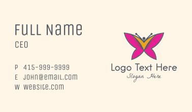 Butterfly Beauty Salon  Business Card