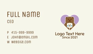 Cute Teddy Bear Business Card