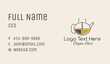 Minimalist Coffee Pot  Business Card
