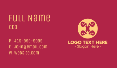 Fancy Style Button Business Card