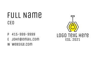 Geometric Pendant Lighting Business Card