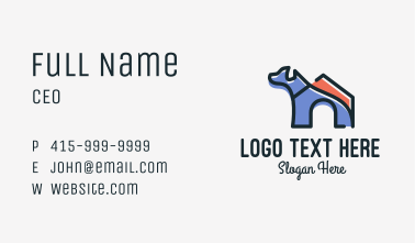 Dog House Kennel Business Card