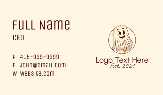 Happy Mop Cleaner Mascot Business Card