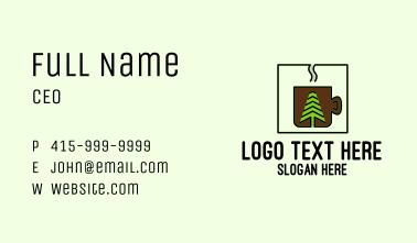 Organic Coffee Shop Business Card