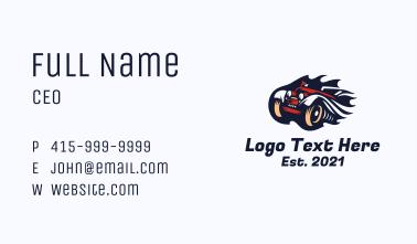 Retro Flame Car Business Card