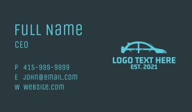 Ridesharing Car  Business Card