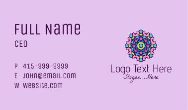 Colorful Prism Ornament  Business Card