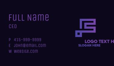 Violet Minimalist Letter F Business Card