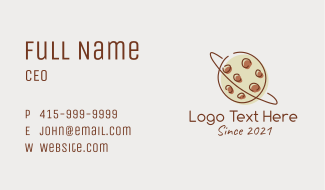 Chocolate Cookie Planet Business Card