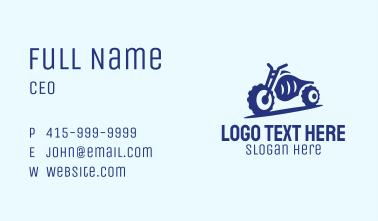 Blue Dirt Motorbike Business Card