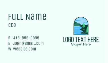 Pine Forest Lake Badge Business Card