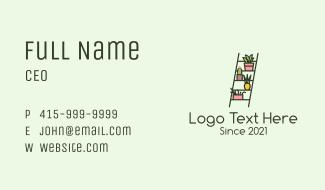 Home Ladder Garden Business Card