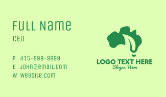Abstract Leaf Map Business Card
