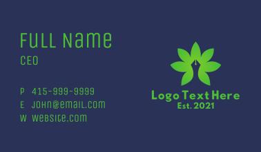 Leaf Pen Writer  Business Card