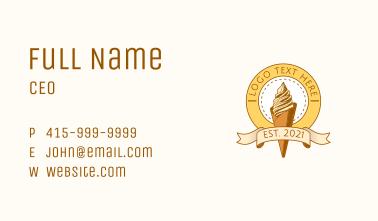 Summer Ice Cream Sundae  Business Card