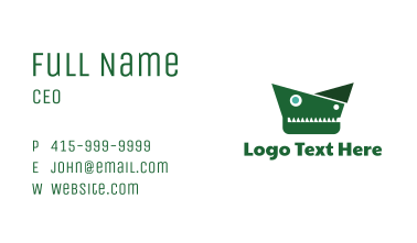 Geometric Alligator  Business Card