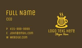 Harp Coffee Cup Business Card