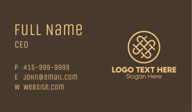 Gold Interweave Letter S & S Business Card