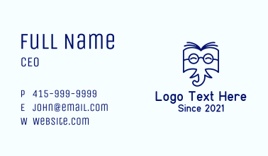 Elephant Learning Book Business Card
