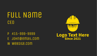 Golden Cityscape Contractor  Business Card