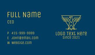 Golden Eagle Rank Business Card