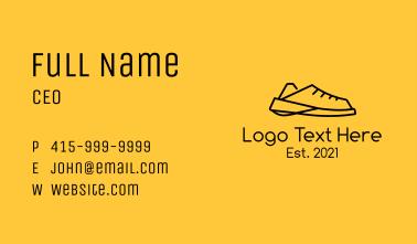 Simple Sneaker Shoe Business Card