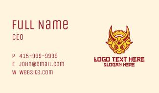 Festive Ox Head Business Card